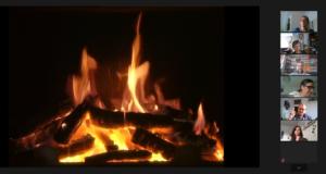 Virtual Campfire during social evening at DaLiCo Summer School 2020